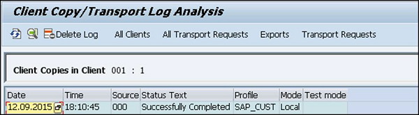 Transport Log Analysis
