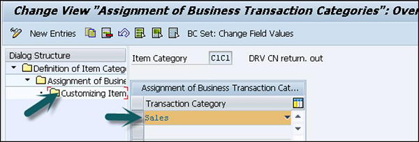 Business Transaction Categories