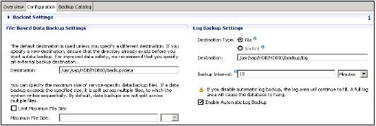Backup Settings