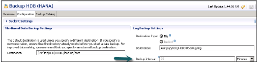 Configuration Log Backup Timeout