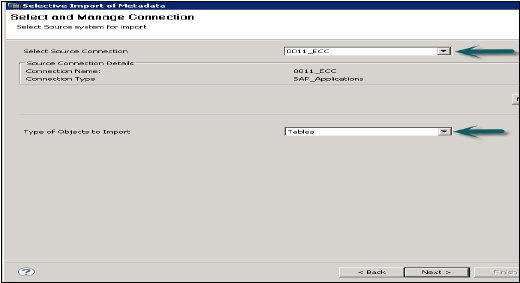 Selective Import of Metadata1
