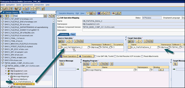 Sap Pi Creating Operation Mapping