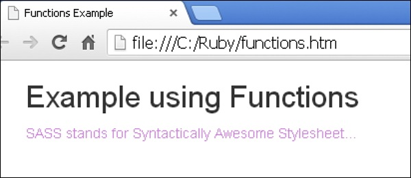 Sass Functions