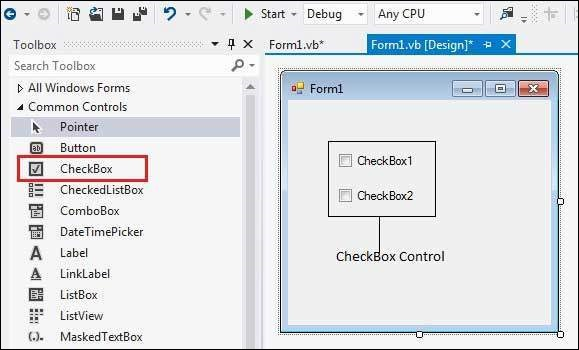 VB.Net CheckBox Control