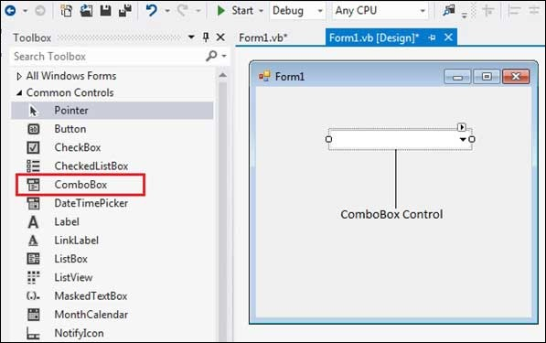 VB.Net ComboBox Control
