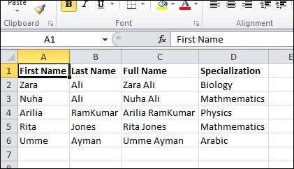VB.Net Excel Result Form