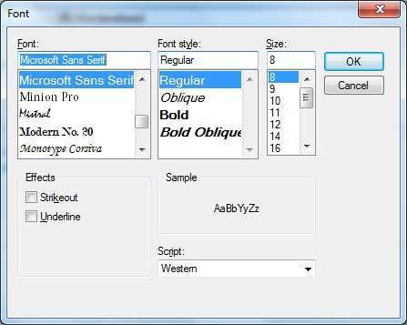Vb Net Fontdialog Control