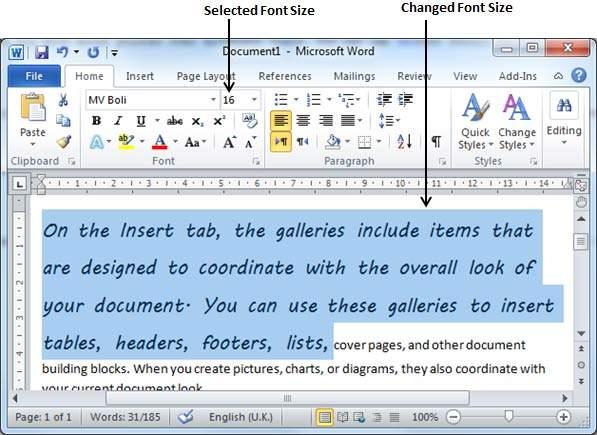 Как сделать шрифт больше в майкрософт