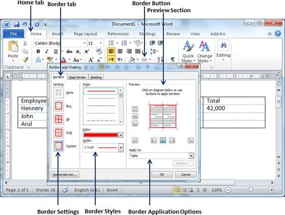 how to shade a box in microsoft word 2