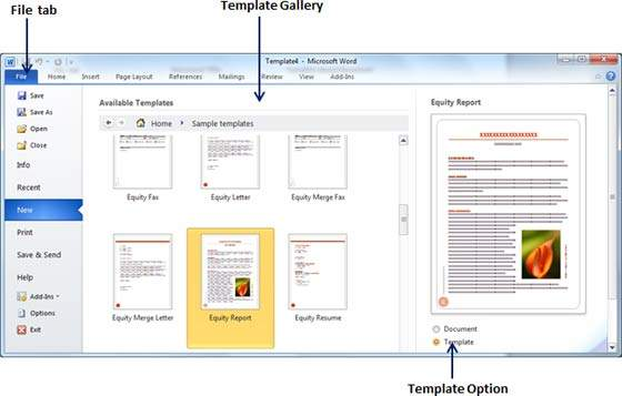 Use templates in word 2010 for Word cannot open this document template