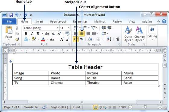 How To Merge Two Tables In Word