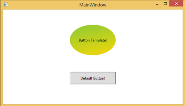 Wpf templates for Xaml control template