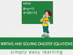 Writing and Solving One-Step Equations
