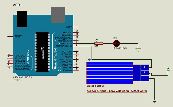 Water Sensor Circuit Connection