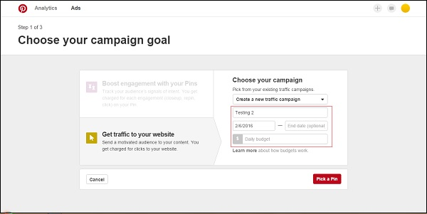 Your Campaign Goal