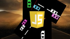 JavaScript Car Driving Game from scratch with source code Image