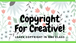 Copyright for Creative Artist Image