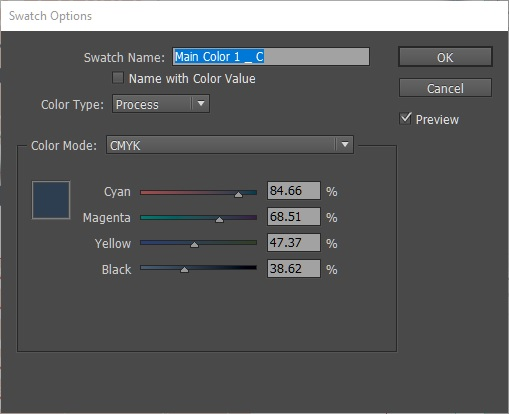 In This Dialog Box You Can Manually Adjust The CMYK Values To Get Target Color Want Type Dropdown Menu There Are Two Options