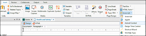 Adobe RoboHelp - ActiveX Controls