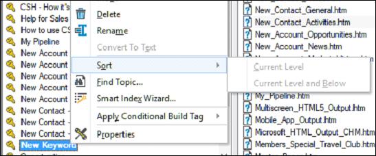 Adobe RoboHelp - Editing Index Keywords