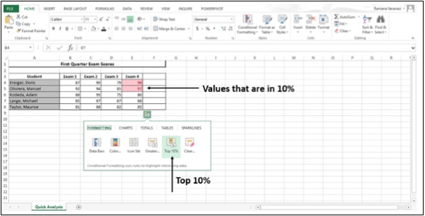Conditional Formating