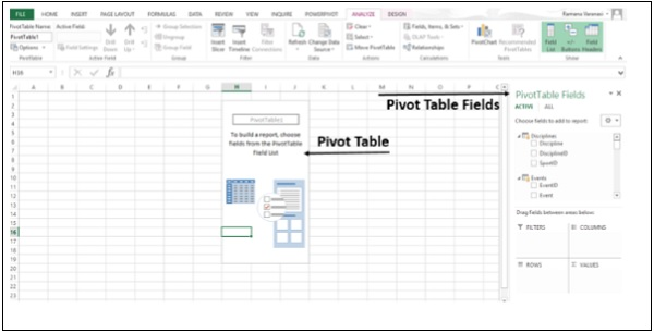 Create Imported PivotTable