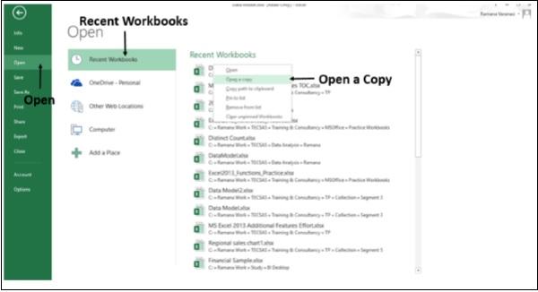 Recent Workbook