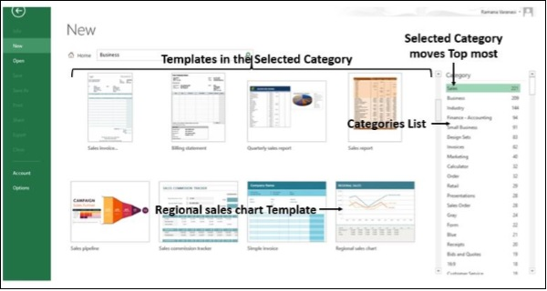 Select Templates Category