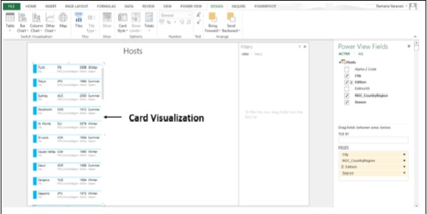 Visualizations Card Appear