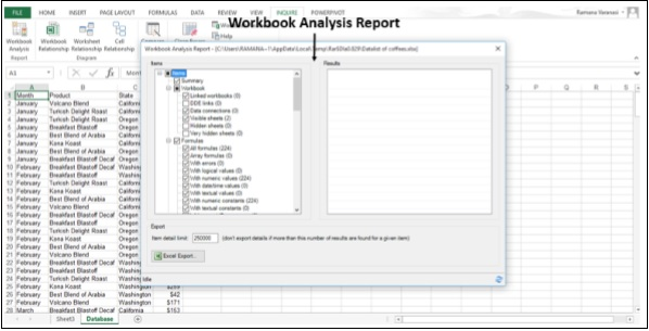 Workbook Analysis Report