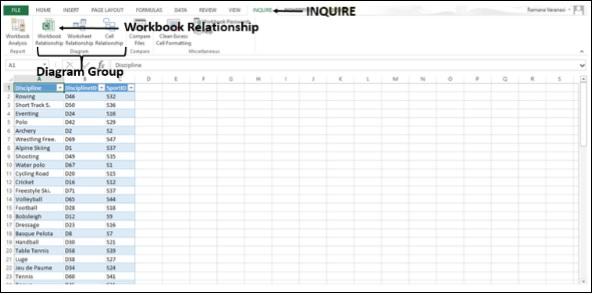 Workbook Relationship Diagram