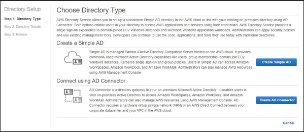 Choose Directory Type