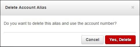Delete Account Details