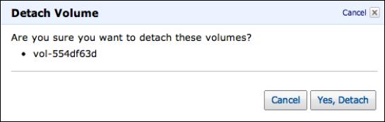 Detach Volume