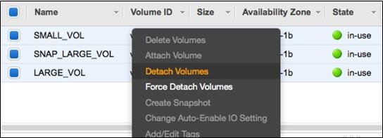 Detach Volumes