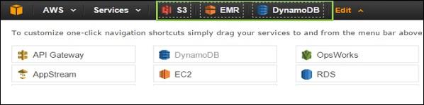 S3 EMR DynamoDB