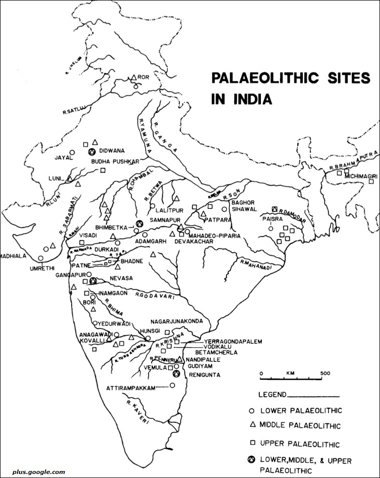 Palaeolithic sites