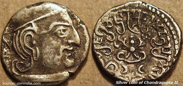 Silver coin of Chandragupta II