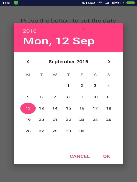 Android Date Picker Tutorial - Date Picker Example | W3schools