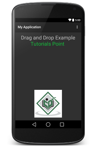 Android - Drag and Drop - Tutorialspoint
