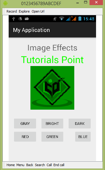 Anroid Image Effects Tutorial