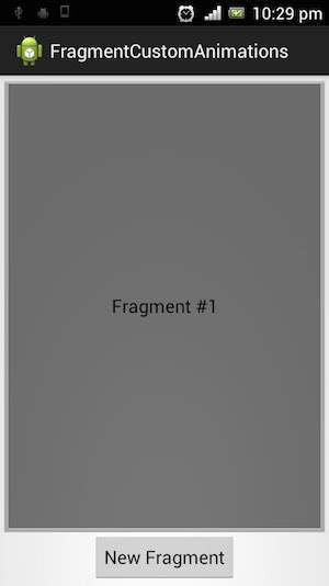 Android fragment transit