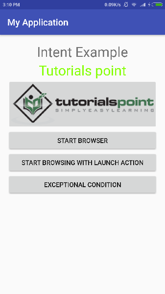 Android - Intents and Filters - Tutorialspoint