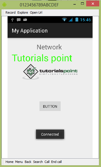 Anroid Network Connection Tutorial