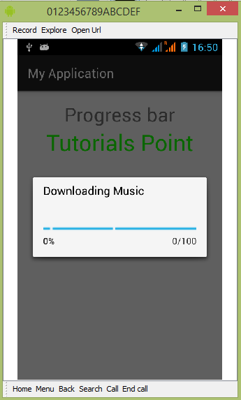 Android Progress Bar using ProgressDialog - Tutorialspoint