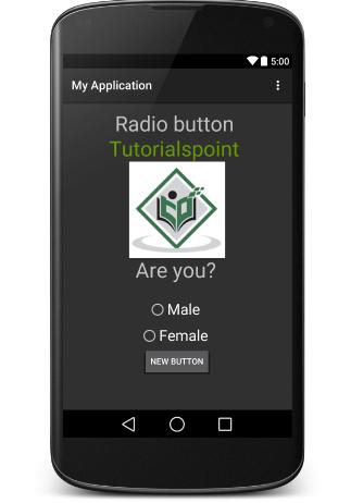 Элемент управления Android RadioButton