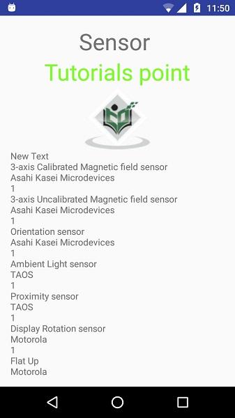 Android - Sensors - Tutorialspoint