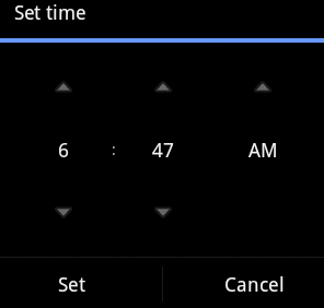 Android - Time Picker