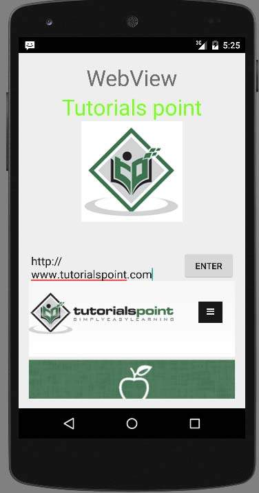 Android - WebView - Tutorialspoint