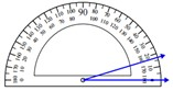 Measuring an angle with the protractor 1.2